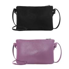 Female Clutch Soft Solid Leather Mini Messenger Bag Crossbody Shoulder Bags