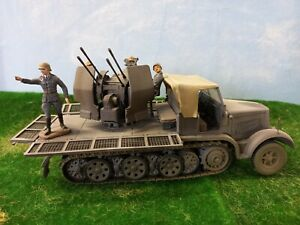 1/32 scale Forces of Valor 8 ton 1/2 track with Flakviering and Luftwaffe crew