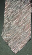 Vintage John Henry Mens Neck Tie Black w/ Blue Stripes Necktie