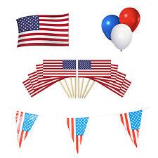 AMERICA/AMERICANO/USA Party Pack. Bunting bandiera + + Palloncini + Cocktail PICKS