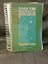 The New York Theatrical Sourcebook 1991 Edition, Spiral Bound