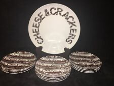 SIGNATURE SERIES  CHEESE & CRACKERS 12 Piece Fine Porcelain Set By Shafford