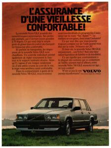 1988 VOLVO 740 GLE Vintage Original Print AD - Silver car photo French Canada