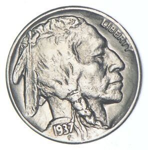 FULL HORN - High Grade - TOUGH - 1937-S Buffalo Nickel - Sharp Coin! *114