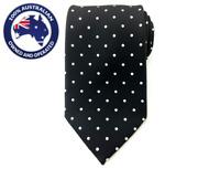 Men's Necktie Black White Polka Dots 8.5CM Neck Tie Wedding Tie Formal Tie