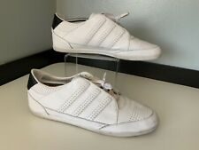 Y3 Mens Sneakers, Trainers, Uk 11 Eu45, White Leather, Vgc
