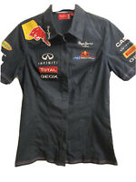 Ladies RedBull F1 Formula One Team Shirt Red Bull Racing Official Pepe Size 6-8