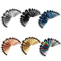 12G-00G Stainless Steel Tapers Stretcher Ear Stretching Kit Gauges Body Piercing