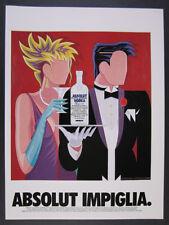 1994 Absolut IMPIGLIA Giancarlo Impiglia vodka bottle art vintage print Ad