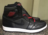Nike Air Jordan 1 Retro High OG Black Satin Gym Red Men's Size 10 555088-060