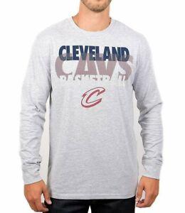 NBA Cleveland Cavaliers UNK Men's Long Sleeve Cotton Poly Blend Shirt, Gray 2XL