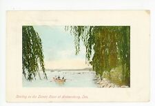 Detroit River Boating—Amherstburg ONTARIO Antique Row Boat PC ca. 1910