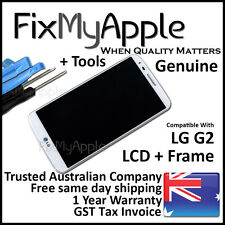 LG G2 D802 OEM White Glass Touch Screen Digitizer LCD Assembly Frame Replacement