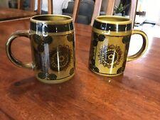 Vintage Mid Century Stavangerflint Sera Pottery Norway Mug Tankard Pair Of