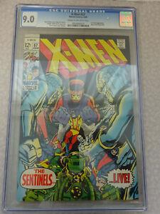 CGC 9.0 C/OW 1969 X-Men #57 Marvel Comics 6/69 Sentinels Appearance