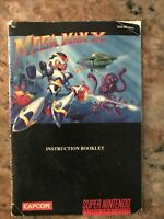 Mega Man X Super Nintendo SNES Instruction Manual Booklet ONLY