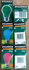 Sylvania Decor Colour 25W Christmas Festive Festoon Light Bulbs BC 240V (x24)
