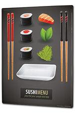 Tin Sign XXL Food Restaurant Sushi chopsticks metal plate plaque