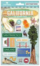 Scrapbooking Crafts Stickers 2D California San Diego San Francisco Bridge 66 LA