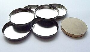 Tin Pans Round 26 mm x 6 for Pressed Powders for Magnetic with One Press Tile