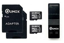 2x QUMOX 16GB MICRO SD CLASS 10 UHS-I 16 SPEICHERKARTE mit USB OTG Kartenleser