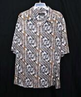 NWOT-New_Silk & Cotton JHANE BARNES Short-Sleeve Button-Up Shirt_XXL_Classic Fit