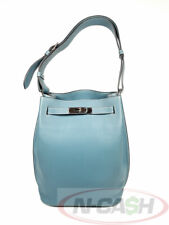 BIGSALE! ENTRUPY AUTHENTIC $8000 HERMES So Kelly 22 Blue Jean Clemence Bag