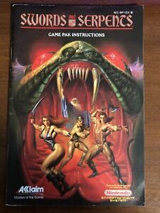 Swords & Serpents Game Pak Instructions Nintendo NES Instruction Manual ONLY