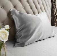 Jasmine Silk 100% Natural 19 Momme Charmeuse Silk Pillow case Grey