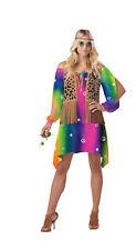 Free Spirit Women's 60s Tie Dye Hippie Halloween Costume Adult Medium #5401