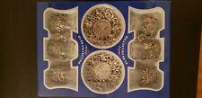 (SET OF 6)  Turkish Tea Glasses Set 6 Tea Serving Cups Saucers Set