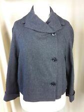 Oska Black Pinstripe Jacket Size II Regular Wool Blend UK12 EU40