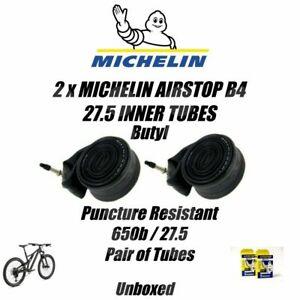Michelin 27.5 650b Inner Tube PAIR Butyl Presta Valve MTB 48/62-584