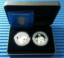 2012 Australia H.M. Queen Elizabeth II Diamond Jubilee 1 oz Silver Two-Coin Set