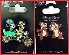 Mickey & Minnie Bicycle + Chip & Dale whispering pins Disney Parks Lot - NEW