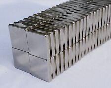 "2/5/10/25/50/100 SQUARE MAGNETS 1"" x 1"" x 1/4 STRONGEST N52 Rare Earth Neodymium"