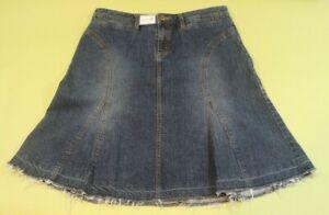 Daisey Fuentes Denim Skirt, Size 12, Short Mini