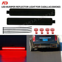 For Cadillac CTS CTS-V 2008-2013 Rear Bumper LED Reflector Light Smoked Red 2PCS