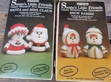 Santa's Little Friends Christmas Holiday Angels Santa & Mrs Claus Ornament CRAFT
