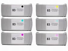 6 Compatible Wide format HP Designjet 5000ps 5500ps HP 83 pigment INK cartridge