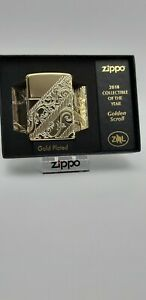 Original Zippo Collectible of the Year 2018 - golden scroll limited #7171 - Neu