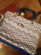 ~NICE~ Blue Designer Handbag! Size Med very spacious and great design