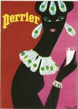 FRENCH VINTAGE POSTER 50x70cm RETRO AD PERRIER WATER BY VILLEMOT