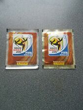 2 PANINI PACKETS WORLD CUP 2010 SHINY GOLD SHINY SILVER