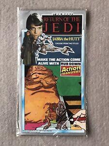 Star Wars Return of the Jedi Jabba Rub Down Action Transfers Vintage 1983