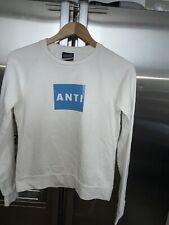 ANTIOCH MEN BOY Long Sleeve White T SHIRT  100%cotton Size Small