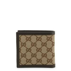 Gucci Original GG Canvas Leather Men's Bifold Wallet 260987 9903 Brown/Beige Box