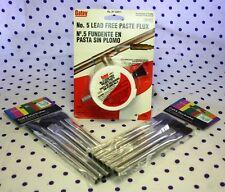 Oatey NO. 5 Lead Free Soldering Paste Flux 1.7 oz Bonus Extra Brushes Bundle NIP