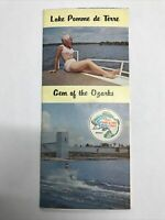 Vintage Lake Pomme De Terre League Gem Of The Ozark's Map Brochure Guide
