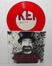 """KEPI Groovie Ghoulies and KEVIN 7 SECONDS both play T REX 7"""" Record RED Vinyl"""